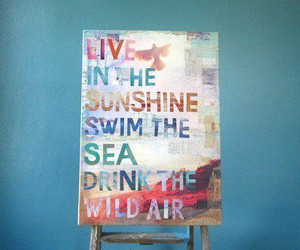 sunshine, air, and quote image