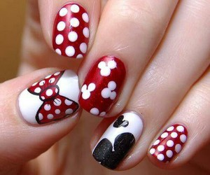 mickey mouse and nail art image