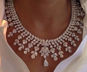 necklace, diamond, and jewelry image