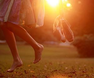 girl, ballet, and sun image