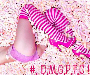high heels, pink, and sweet image