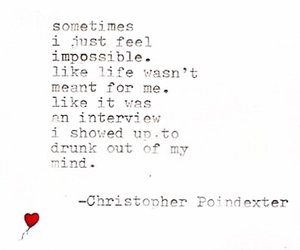 drunk, quotes, and typewriter image
