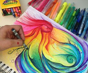 art, rainbow, and colors image