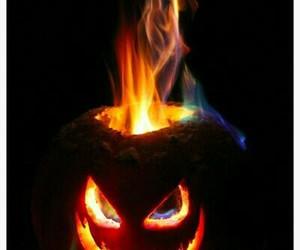 fire, jack o lantern, and pumpkin image