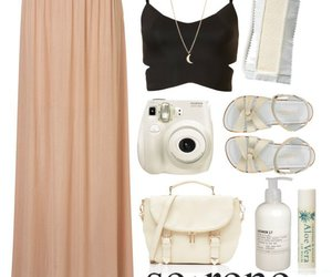 fashion, maxi skirt, and outfit image