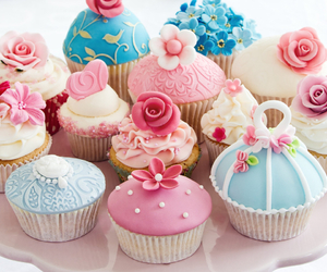 cupcake, sweet, and pink image