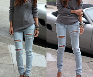 girl, jeans, and heels image