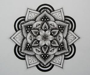 mandala, tattoo, and art image