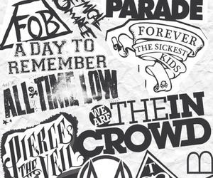 band, all time low, and black and white image