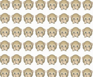 monkey, wallpaper, and emoji image