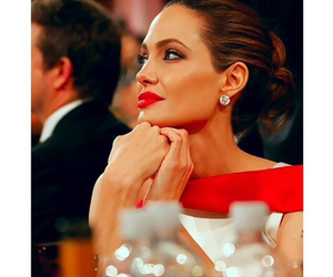 famous, jolie, and red lipstick image
