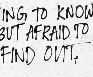 quote, afraid, and know image