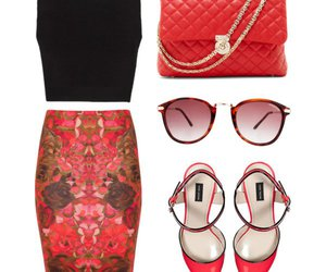 fashion, pencil skirt, and outfit image