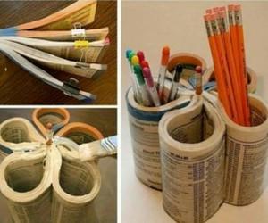 diy, book, and pencil image