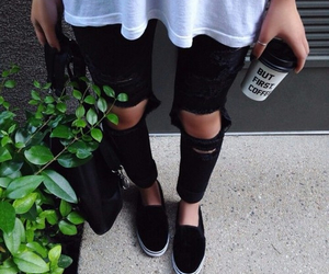 black, coffee, and style image