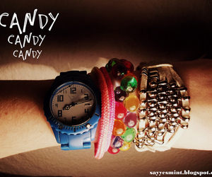 accessories, bracelet, and clock image
