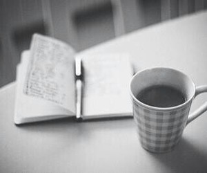 diaries and coffee image