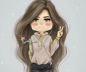 girl, hair, and girly_m image