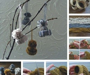diy, christmas decorations, and knit image