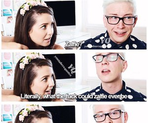 youtubers, zoella, and tyler oakley image