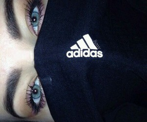 adidas, eyes, and blue image