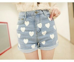 fashion, heart, and short image