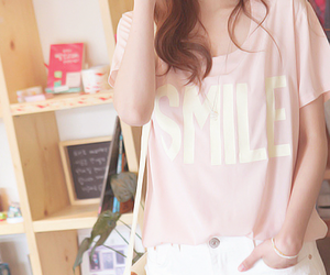 smile, fashion, and pink image