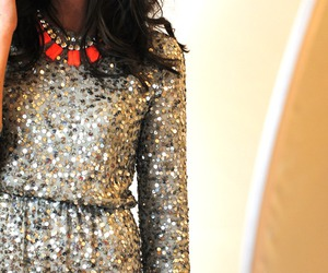 fashion, dress, and sparkle image