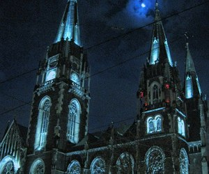 architecture, church, and light image