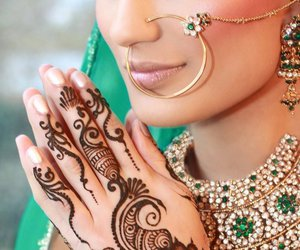 bridal wear, bride, and indian image