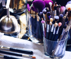 Brushes, make up, and makeup image