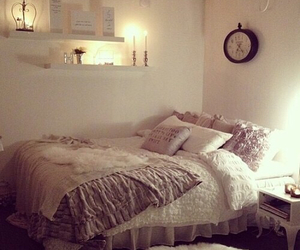 bedroom, candles, and room image