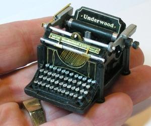 miniature and typewriter image