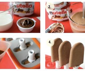nutella, ice cream, and chocolate image