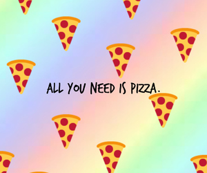 pizza, forevah, and love image