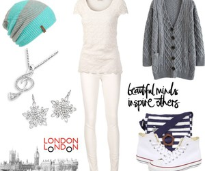 beanie, cardigans, and converse image