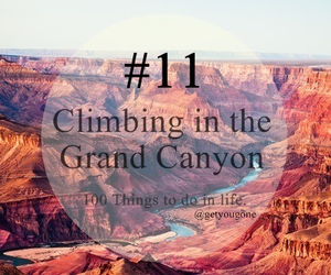 11, 100 things to do in life, and grand canyon image