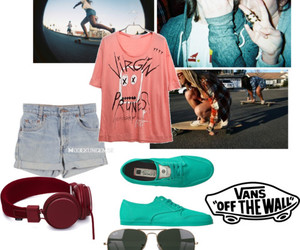 fashion, longboard, and skaters image