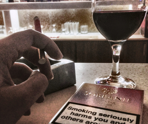 bar, cigarettes, and lonely image