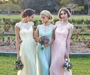 wedding, dress, and bridesmaid dress cheap image