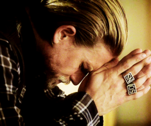 blonde, Charlie Hunnam, and guy image
