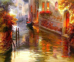art, beautiful, and paintings image