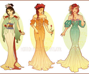 disney, mulan, and ariel image