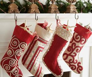 christmas, holiday, and stockings image
