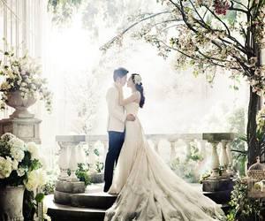 bride, dress, and scenario image
