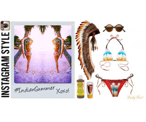 bathing suits, bikinis, and Polyvore image