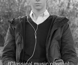black and white, classical music, and norman bates image
