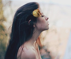 face, flower, and grunge image