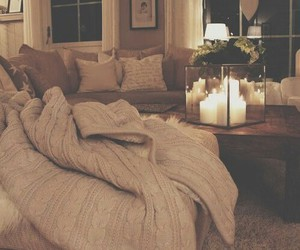 home, candle, and cozy image