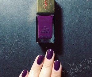 nails, YSL, and beautiful image